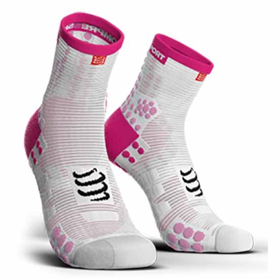 compressport-racing-socks-v3-0-run-lo-eu-45-48-white-pink