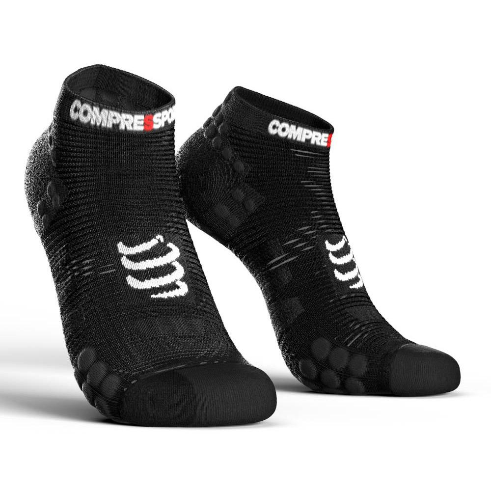 compressport-racing-socks-v3-0-run-lo-eu-39-41-black