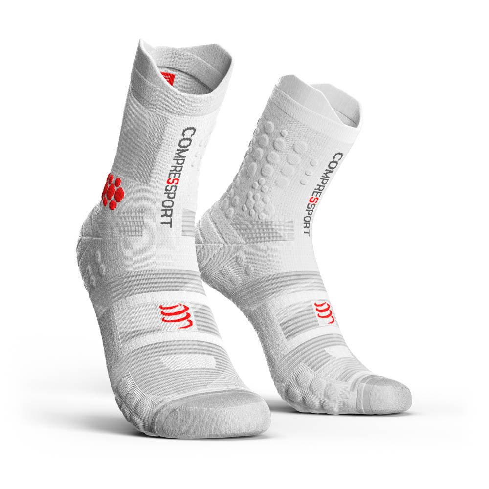 compressport-racing-socks-v3-0-trail-eu-35-38-white