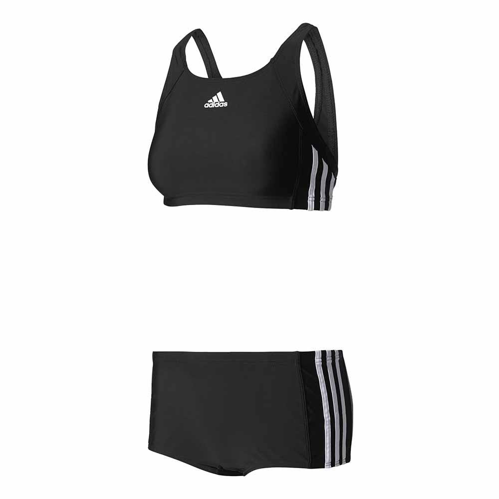 92792647f9cf Image is loading Adidas-Essence-Core-3-Stripes-2-Pieces-Black-