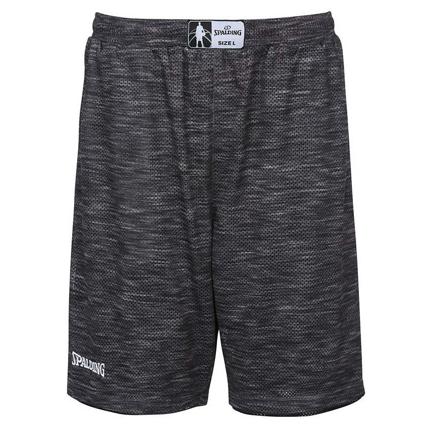 Spalding Street Reversible Short Pants S Grey Melange / Black