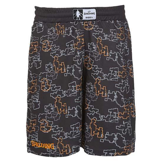 Spalding Street Single Short Pants L Black / Orange