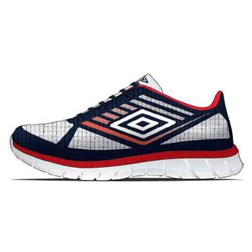 Umbro Lever EU 42 1/2 White / Dark Navy / Vermillion