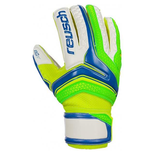 Reusch Serathor Rg Finger Support Junior 4 1/2 Electric Blue / Green Gecko