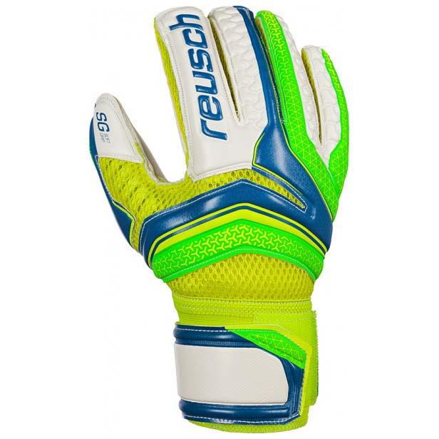 Reusch Serathor Sg Finger Support Junior 4 Electric Blue / Green Gecko