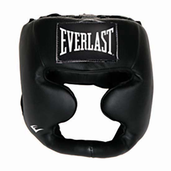 Everlast Equipment Leather Full Protection Headgear S-M Black