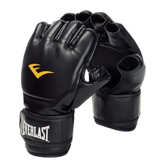 Everlast Equipment Leather Grappling Gloves S-M Black