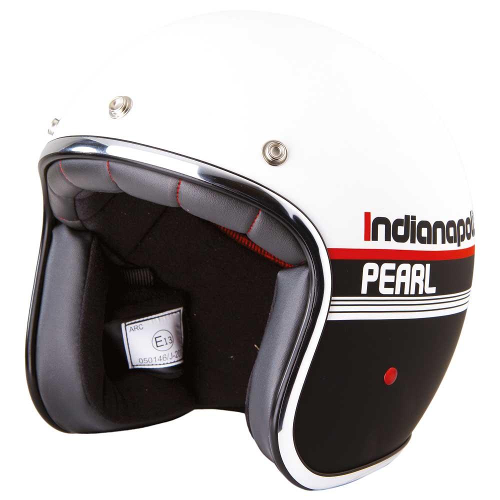 Stormer Pearl Indianapolis negro Stormer / Blanco Matt , Cascos Stormer negro , moto 44e7ca