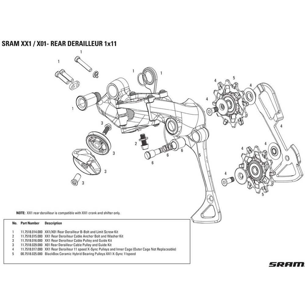 sram-spare-parts-tornillo-xx1-x01-one-size