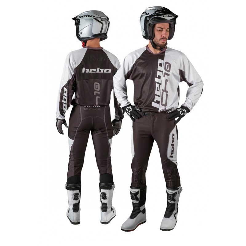 Hebo-Trial-Tech-10-Grey-Pantaloni-Hebo-motociclismo-Abbigliamento-Uomo