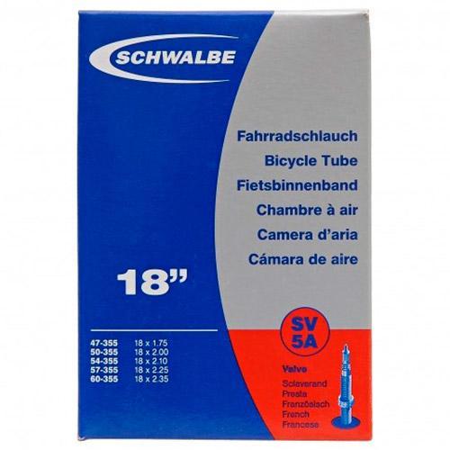 Schwalbe 18 X 1.75/2.35-450 X 55 Presta Inner Tube 18 x 1.75-2.35