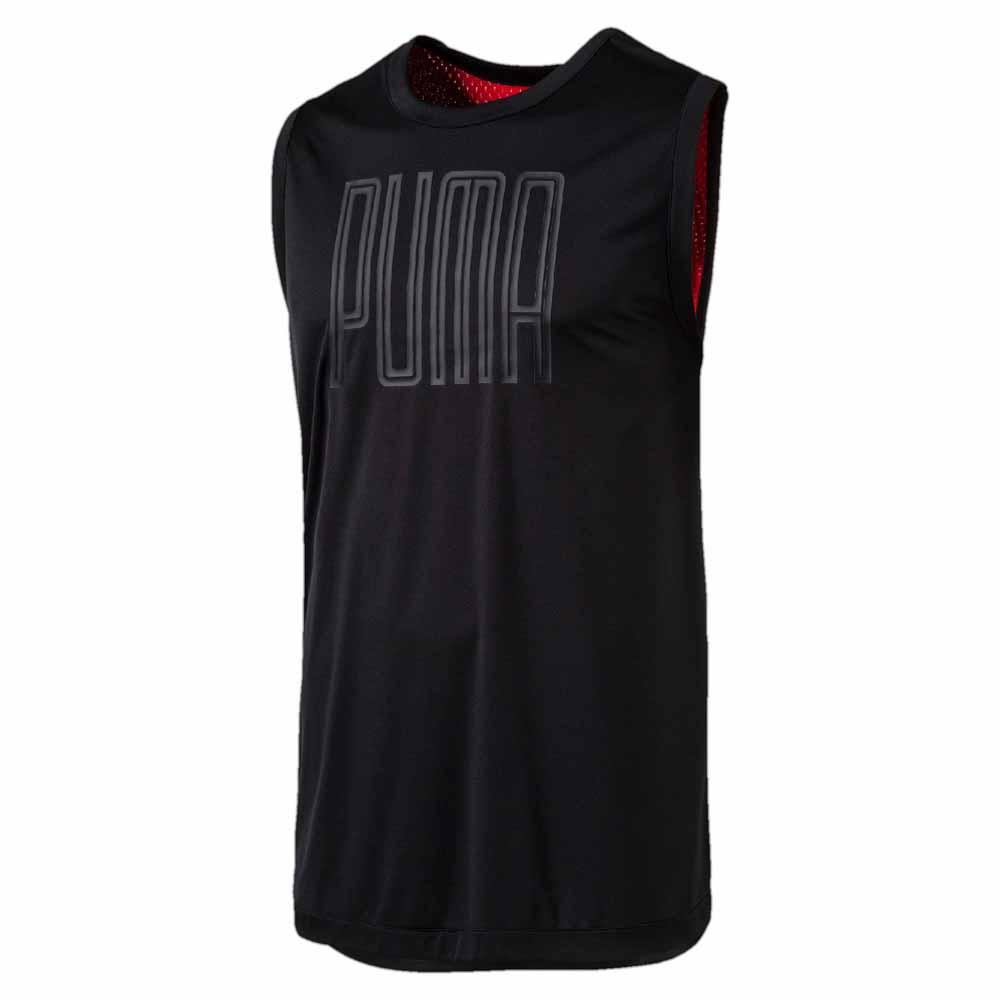 Puma Training Sleeveless Top S Black / High Risk Red