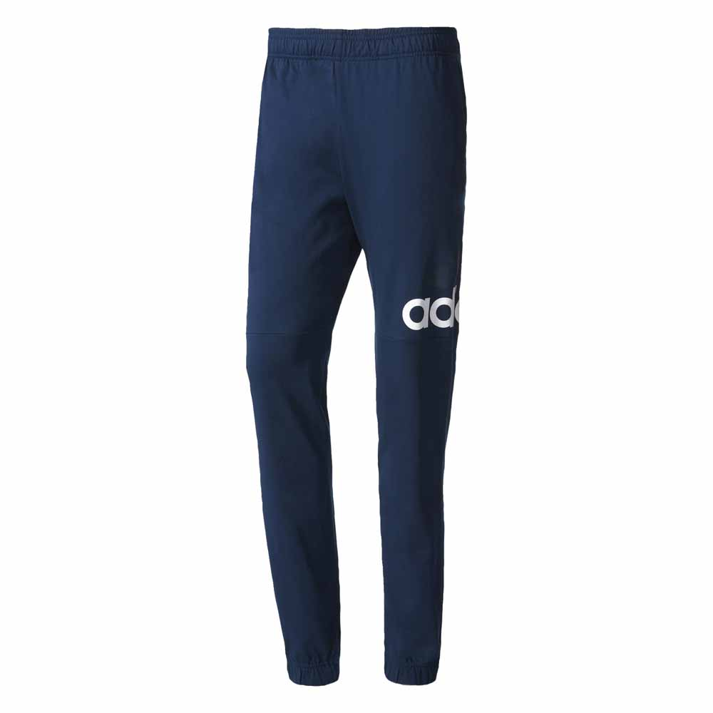 Adidas-Essentials-Performance-Logo-Tapered-Single-Jersey-Pants-Blu-Male-M