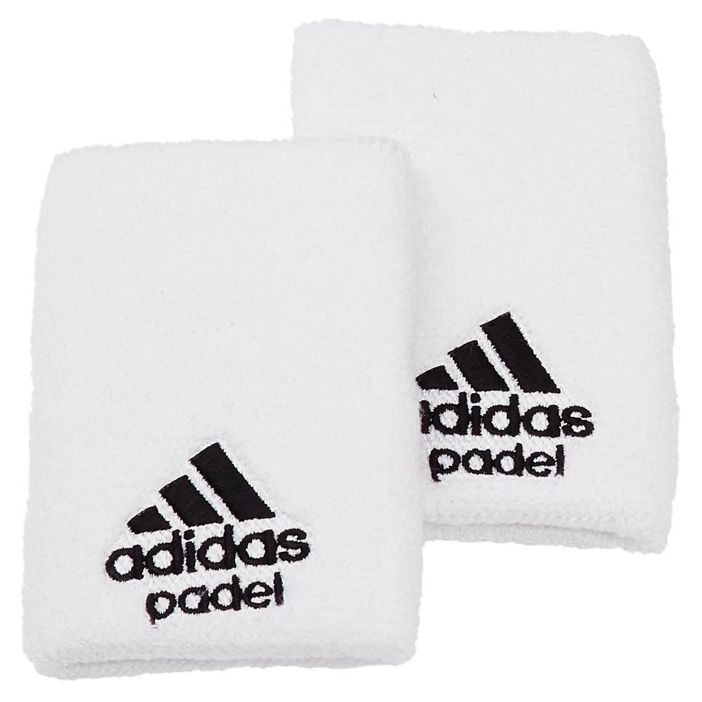 Adidas Padel Wristband L 2 Units One Size White / Black