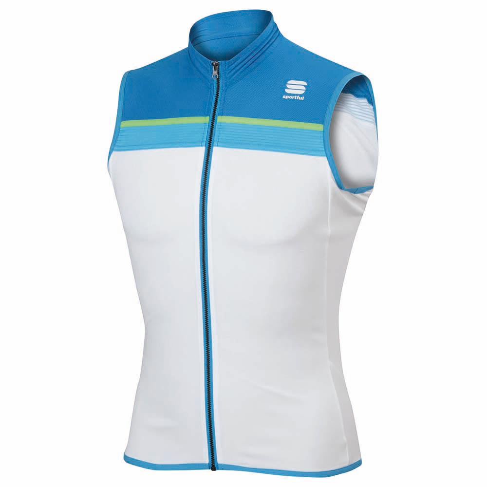 4163dfc1a8f18b Sportful PISTA Sleeveless White-blue Jersey L