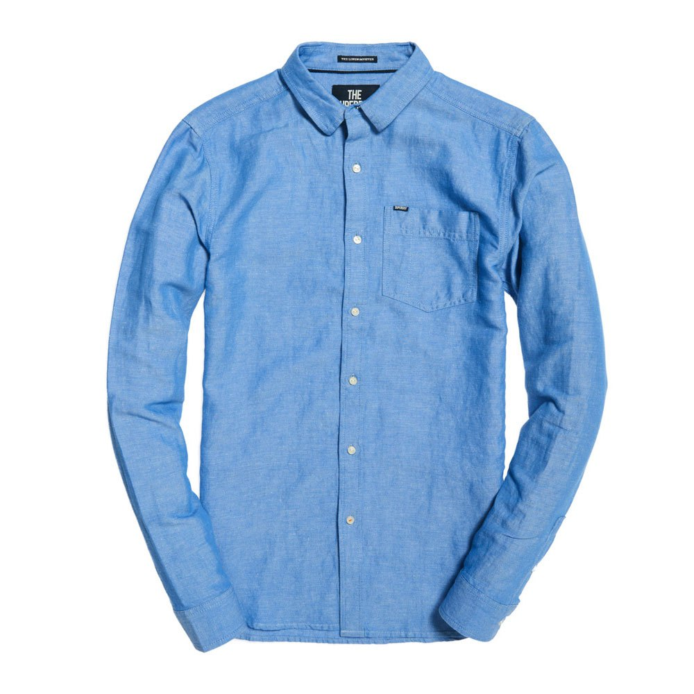 Superdry-Linen-Riviter-L-s-Shirt