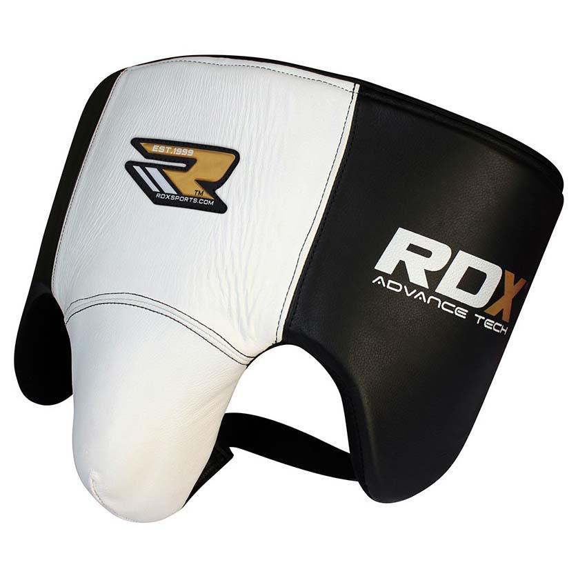 Rdx Sports Groin Guard Leather New M White / Black