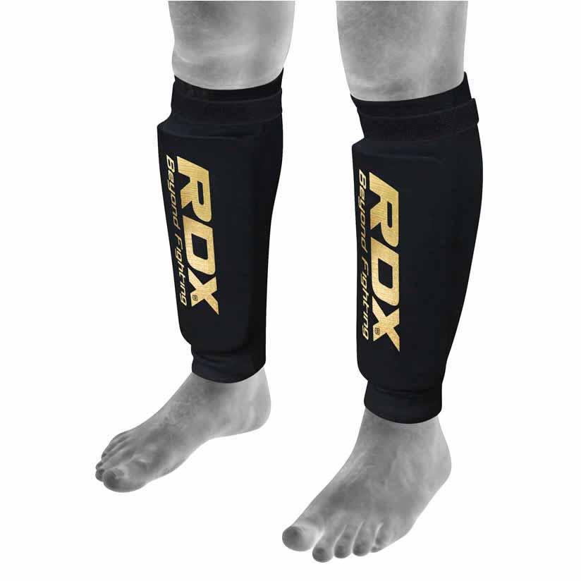 Rdx Sports Hosiery Shin Pad Foam L Black / Gold