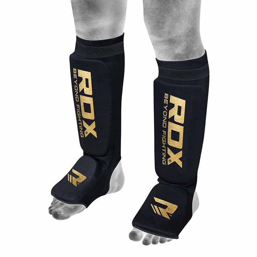 Rdx Sports Hosiery Shin Instep Foam L Black / Gold