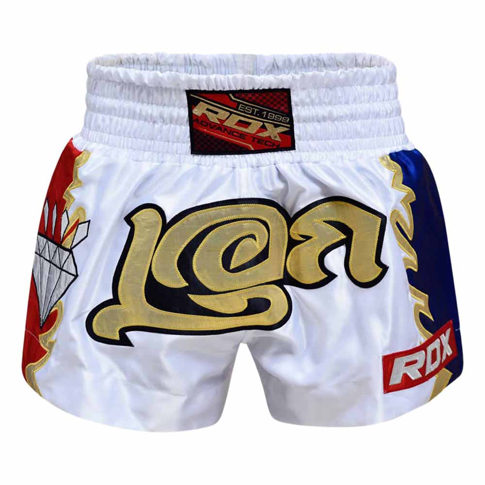 Rdx Sports Clothing R3 Muay Thai Shorts L White / Gold