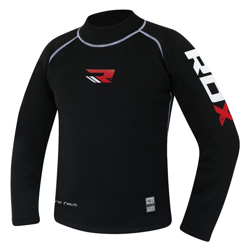 Rdx Sports Clothing Rash Guard Neoprene T-shirt Manche Longue M Black