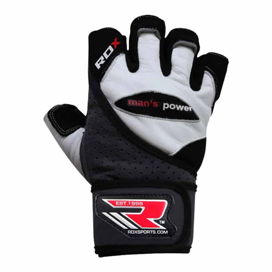 Rdx Sports Gym Glove Leather L White / Black