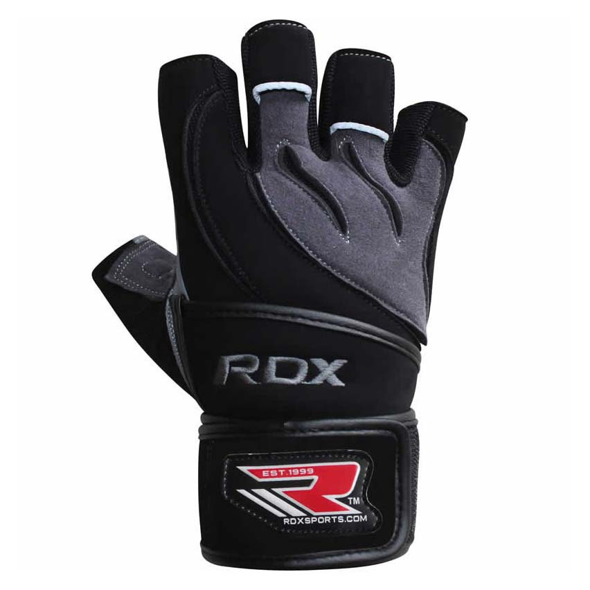 Rdx Sports Gym Glove Leather S Gray / Black