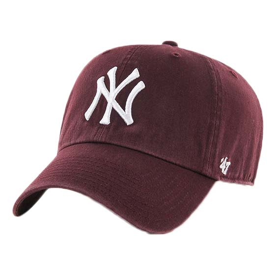 47 Casquette New York Yankees Clean Up One Size Dark / Maroon