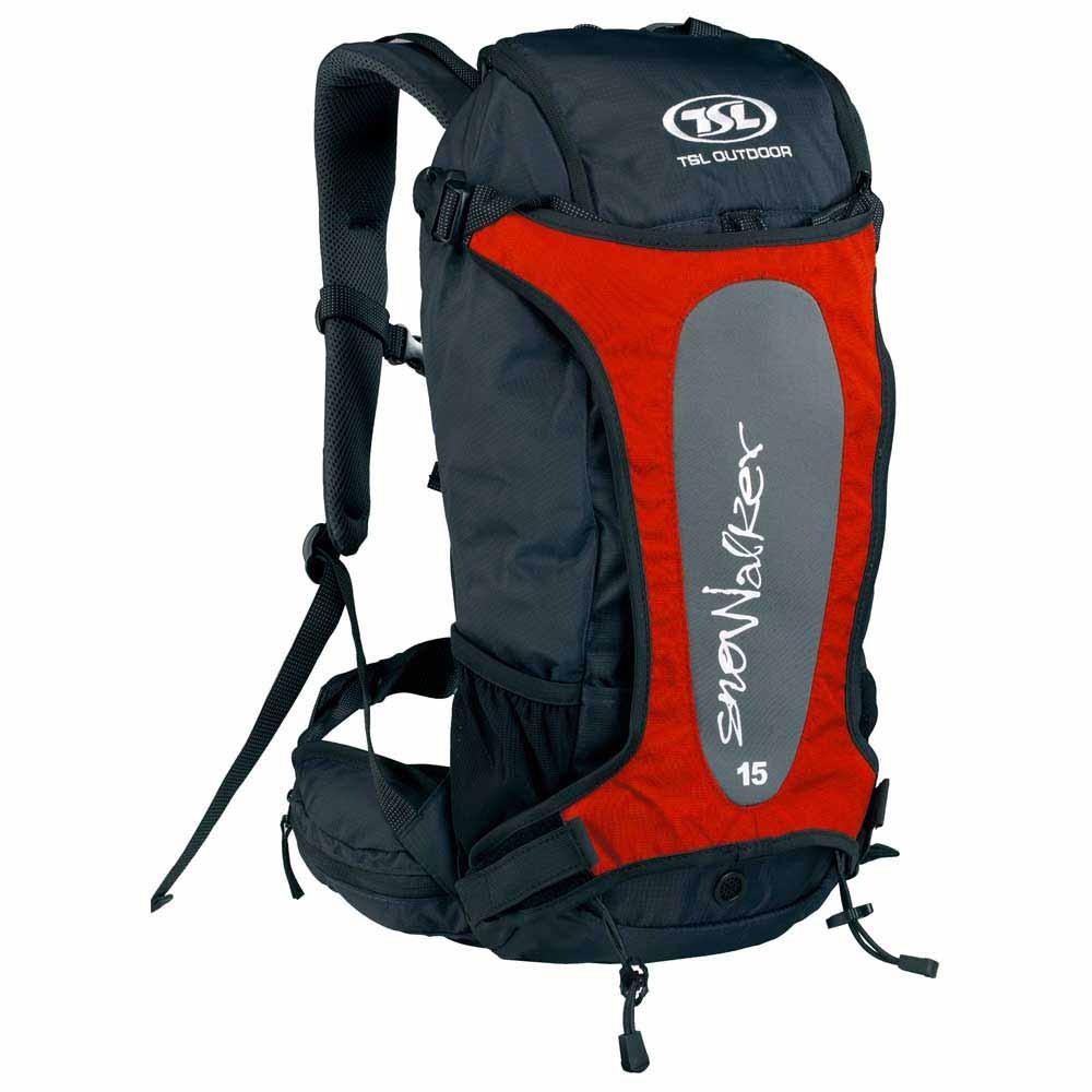 Tsl Outdoor Snowalker 15l Backpack One Size Black / Red
