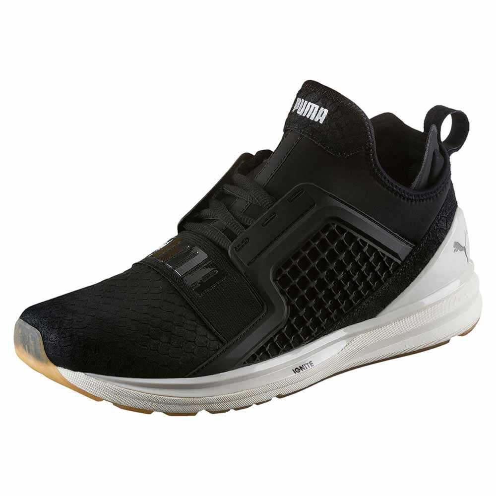Zapatos de mujer baratos zapatos de mujer Puma Ignite Limitless Reptile, Negro Male EU 40