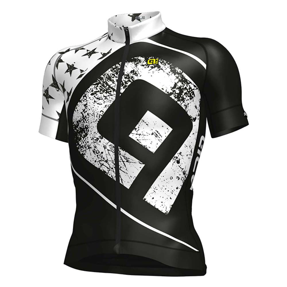 Ale Graphics Graphics Graphics Prr Star negro   blanco , Maillots Ale , ciclismo , Ropa hombre eb4c13