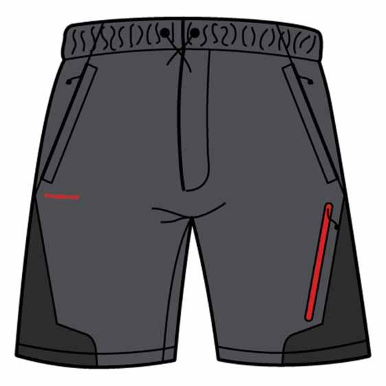 Trangoworld Odiel Fi Pants Short 4 Asphalt