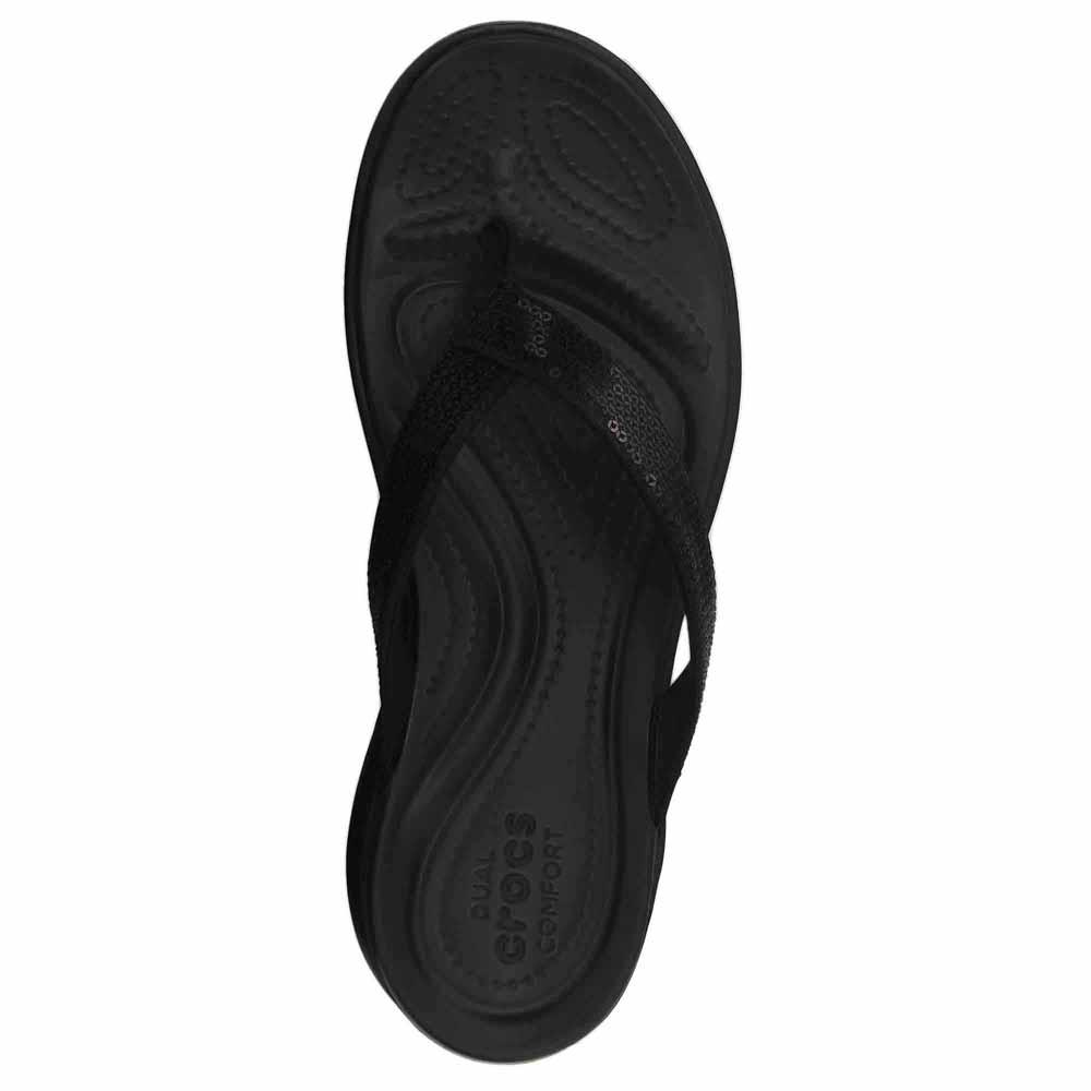 Crocs Capri V Sequin Schwarz T94796  Flip Flops Flops Flops Frau Schwarz , Flip Flops Crocs 83a1f5