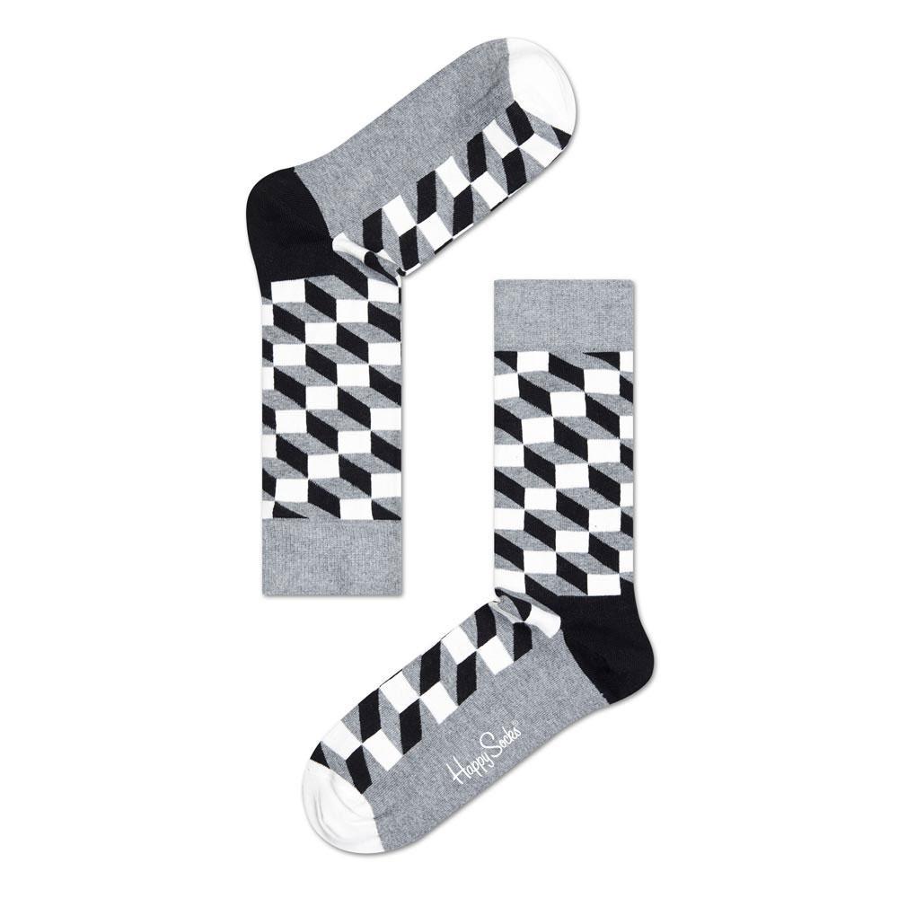 Happy Socks Filled Optic EU 36-40 Grey / Black / White