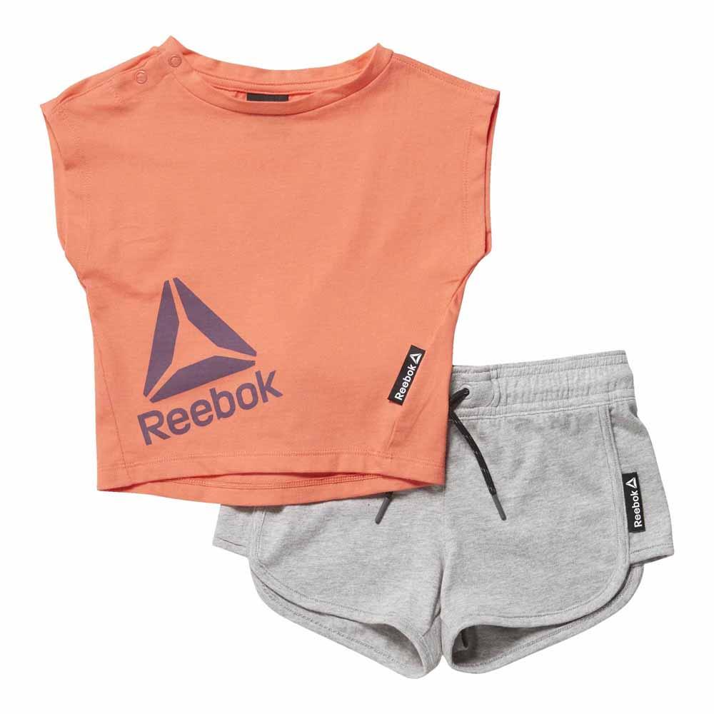 Reebok Girls Essentials Infant S/s Set 12 Months Fire Coral