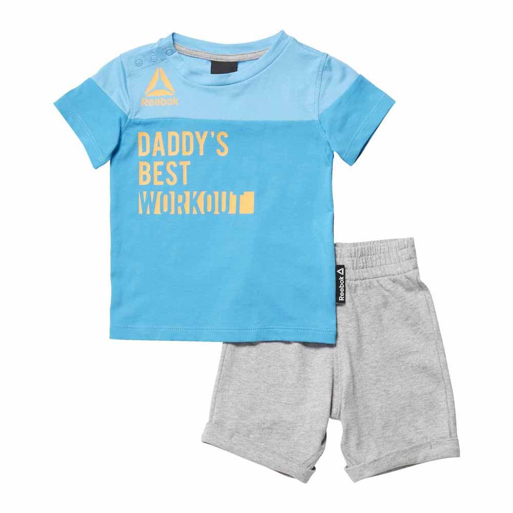 Reebok Boys Essentials Infant S/s Set 6 Months Caribbean Teal