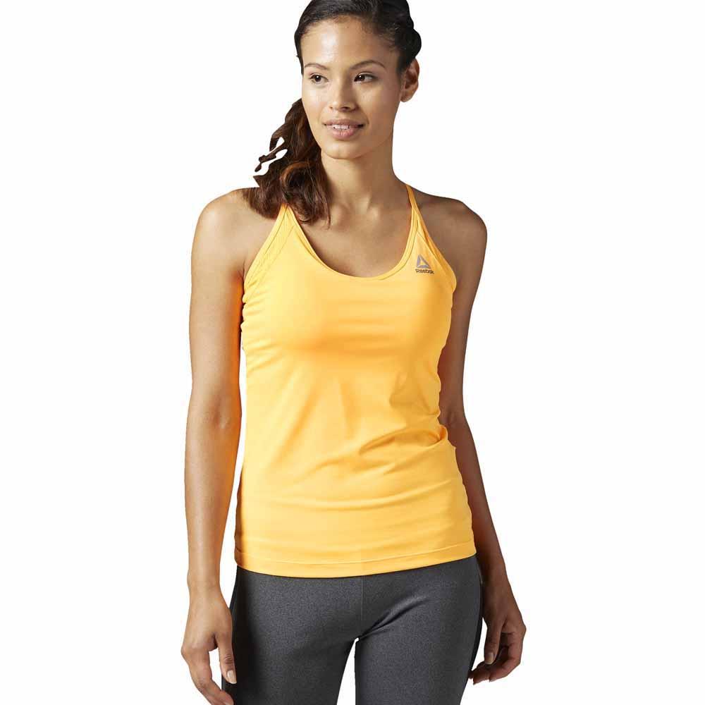 Reebok T-shirt Sans Manches Workout Ready Tri Back XS Fire Spark