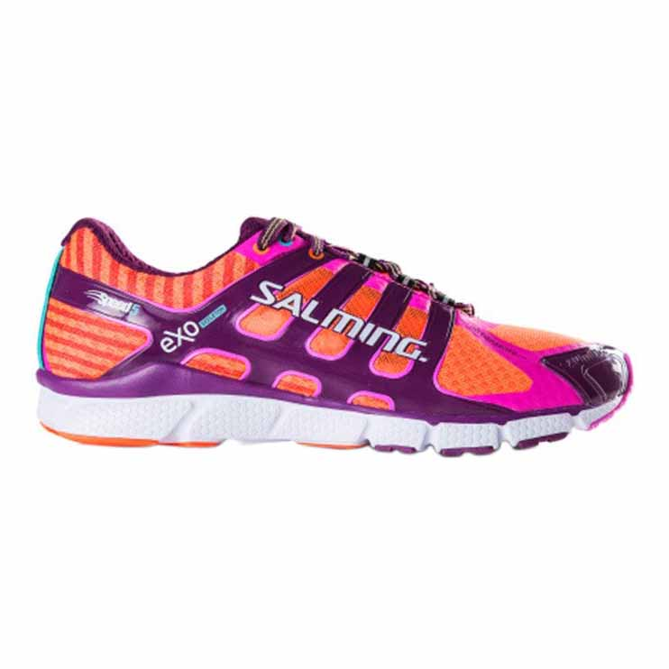 Salming Speed 5 EU 37 1/3 Shocking Orange / Dark Orchid