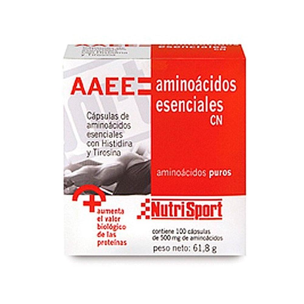 Nutrisport Acides Aminés Essentiels 1/2g 100 Unités Insipide One Size