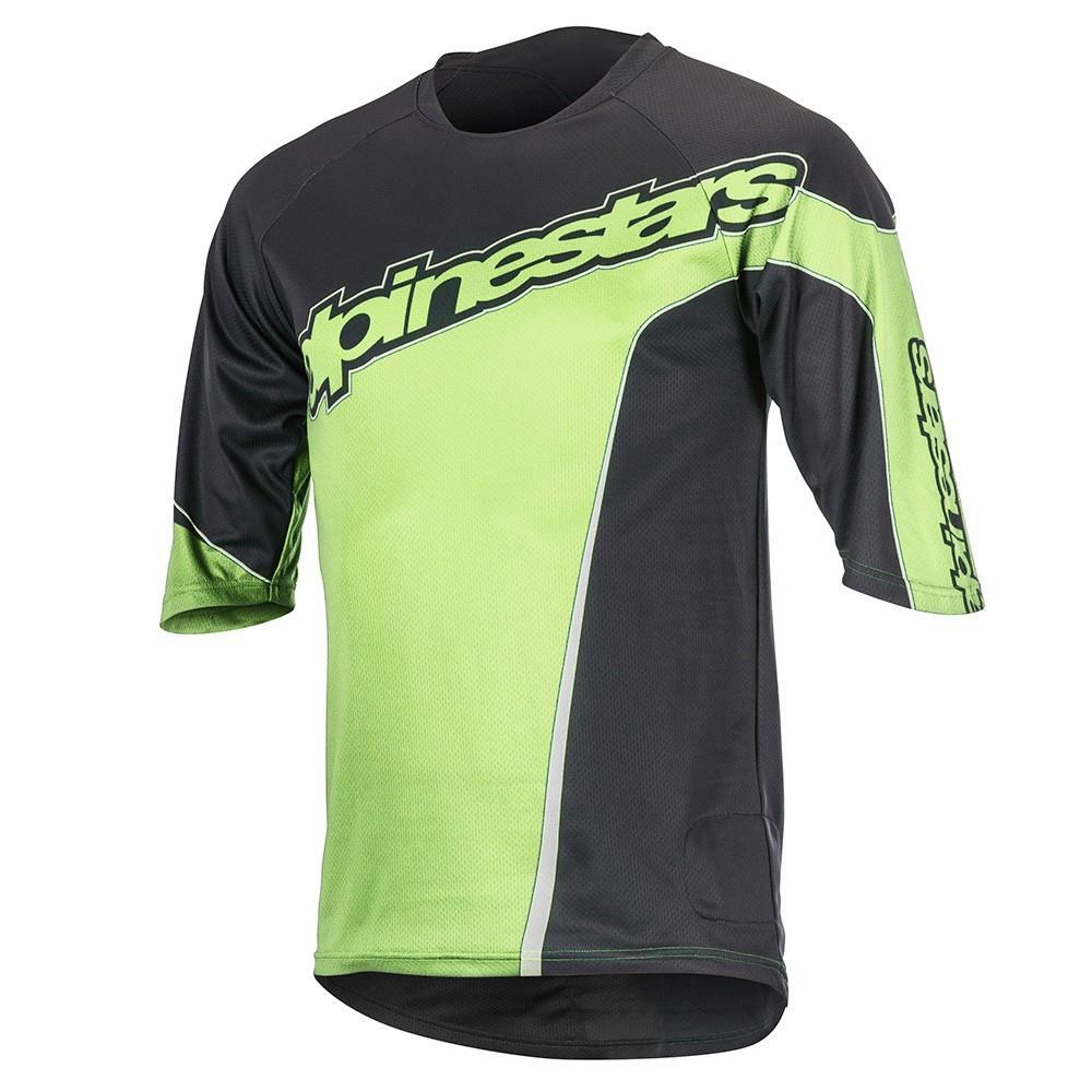 Alpinestars-Crest-3-4-Black-Bright-Green-Magliette-Alpinestars-ciclismo