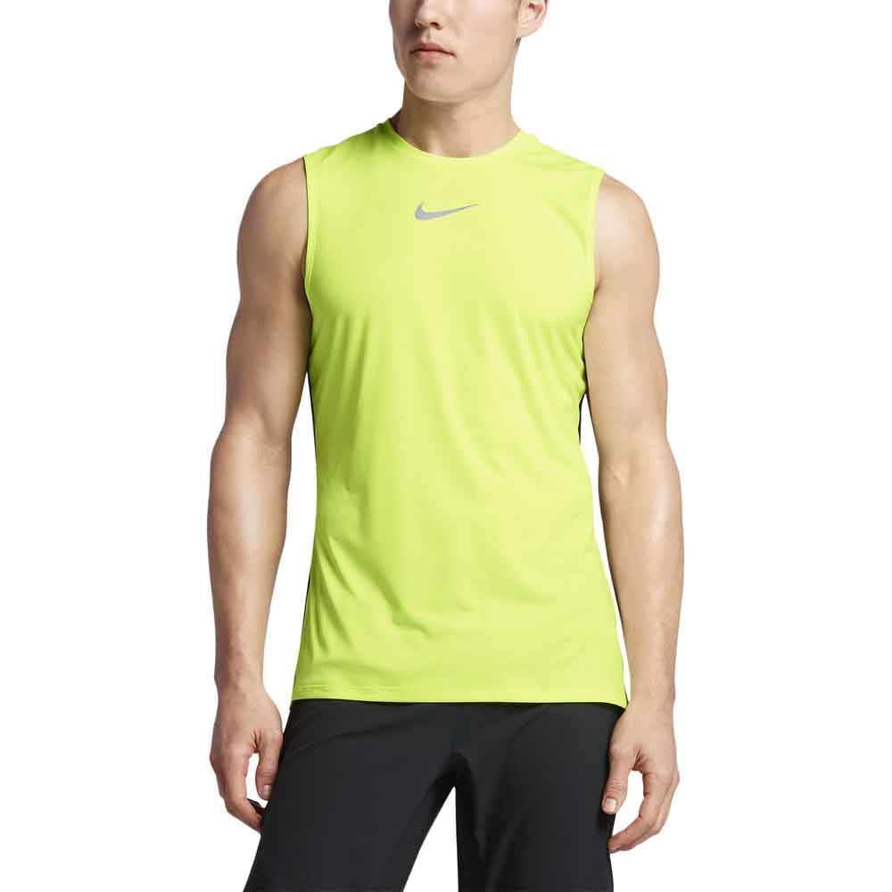 Nike Tbd Top S/s Trail XL Volt / Black