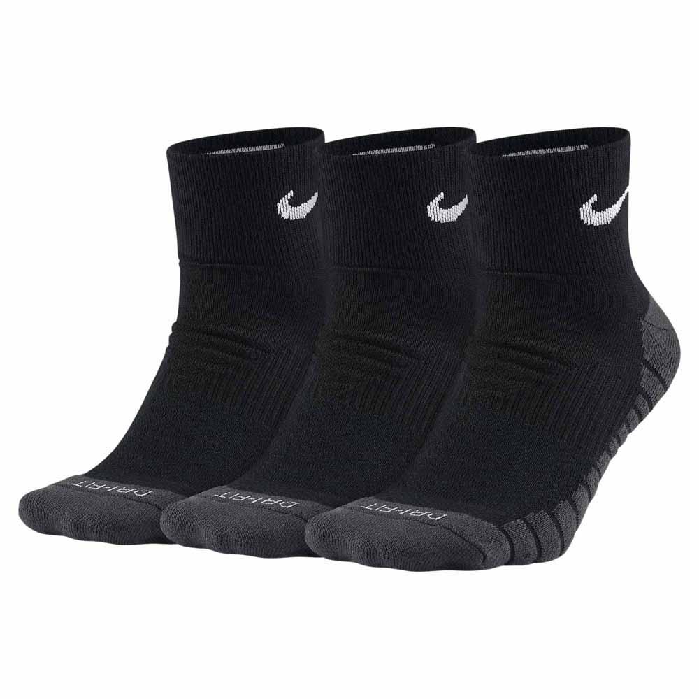 Nike Everyday Ankle Max Cushion 3 Pairs EU 34-38 Black / Anthracite / White