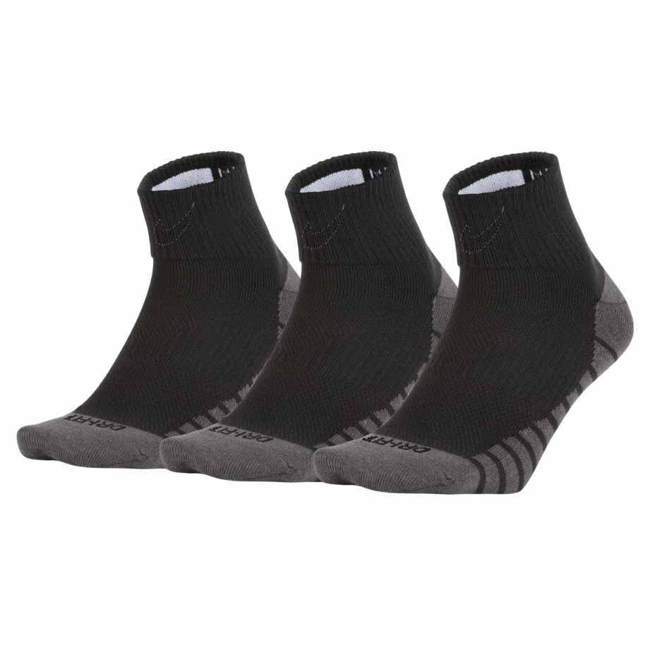 Nike Everyday Ligthweight Ankle Max 3 Pairs EU 34-38 Black / White