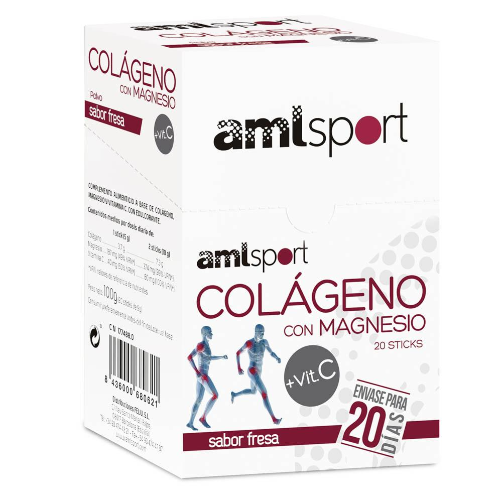 Ana Maria Lajusticia Collagen With Magnesium And C-vitamin 20 Units Strawberry One Size