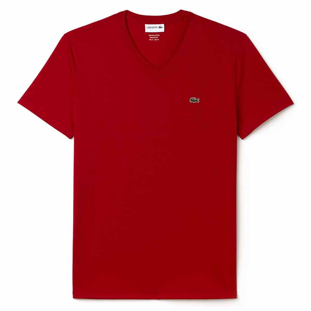 Lacoste T-shirt Manche Courte Th6710 Crew Neck S Red