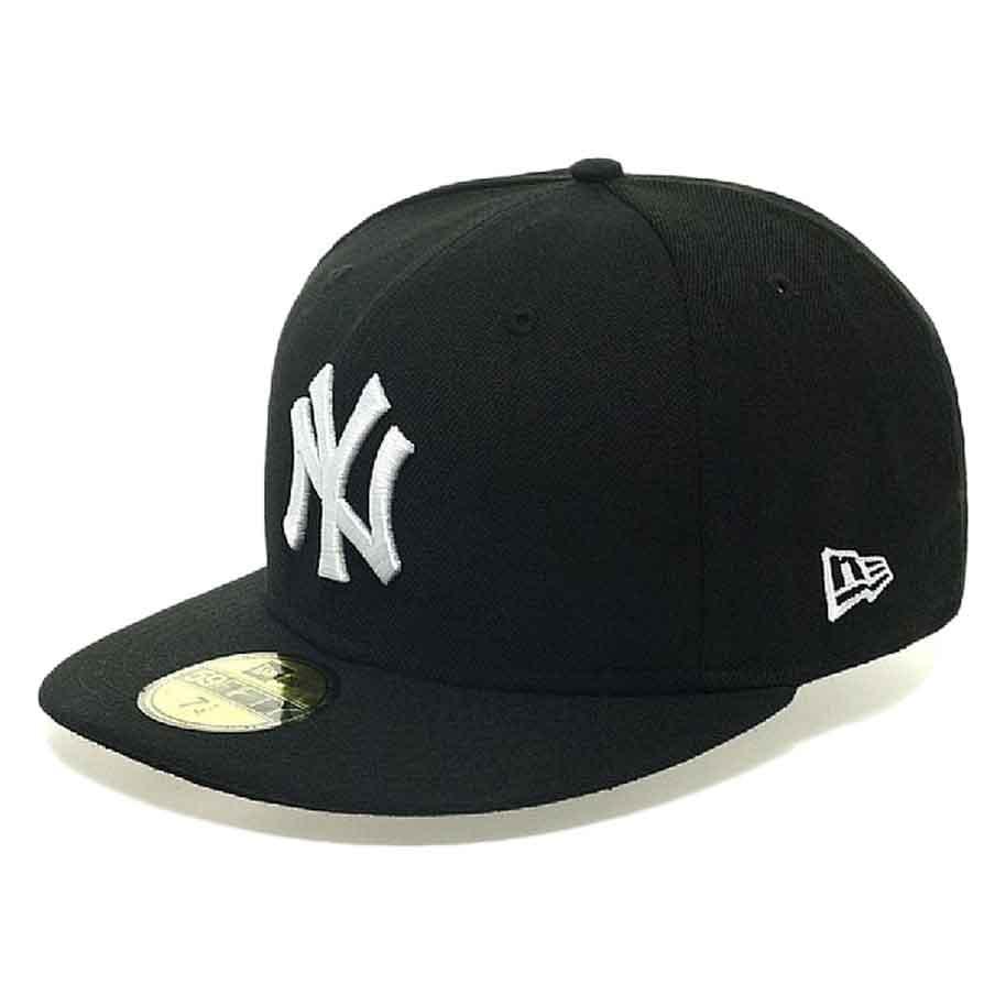 New Era 59fifty New York Yankees 7 Black / White