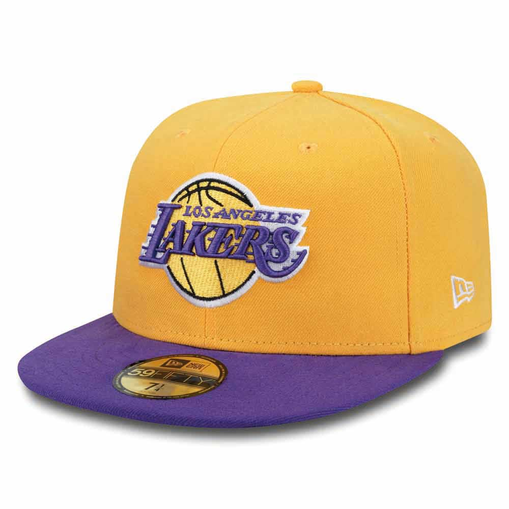 New Era 59fifty Los Angeles Lakers 7 Yellow / Purple