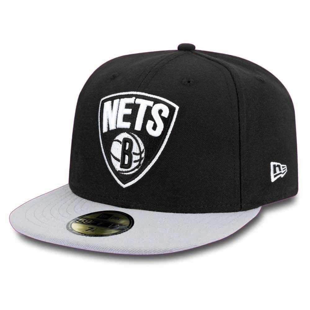 New Era 59fifty Brooklyn Nets 7 3/4 Black / Grey