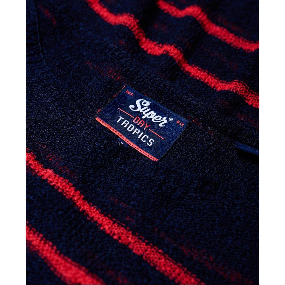 Superdry Rio Slub Slub Slub Pocket Knit Navy   Wild rosa Stripe , Pullover Superdry , moda 8ebc72