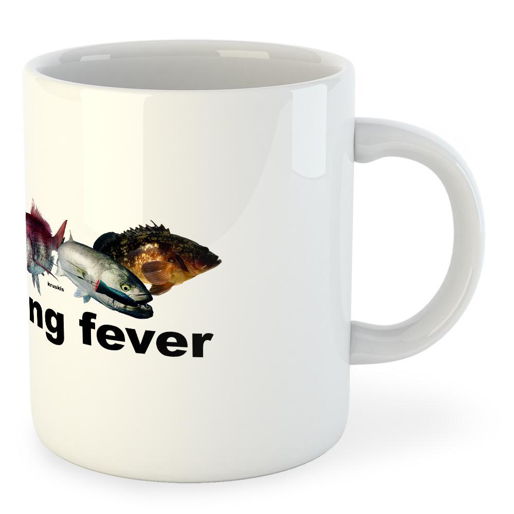 Kruskis Mug Fishing Fishing Fishing Fever blanco , Merchandising Kruskis , náutica c2662a